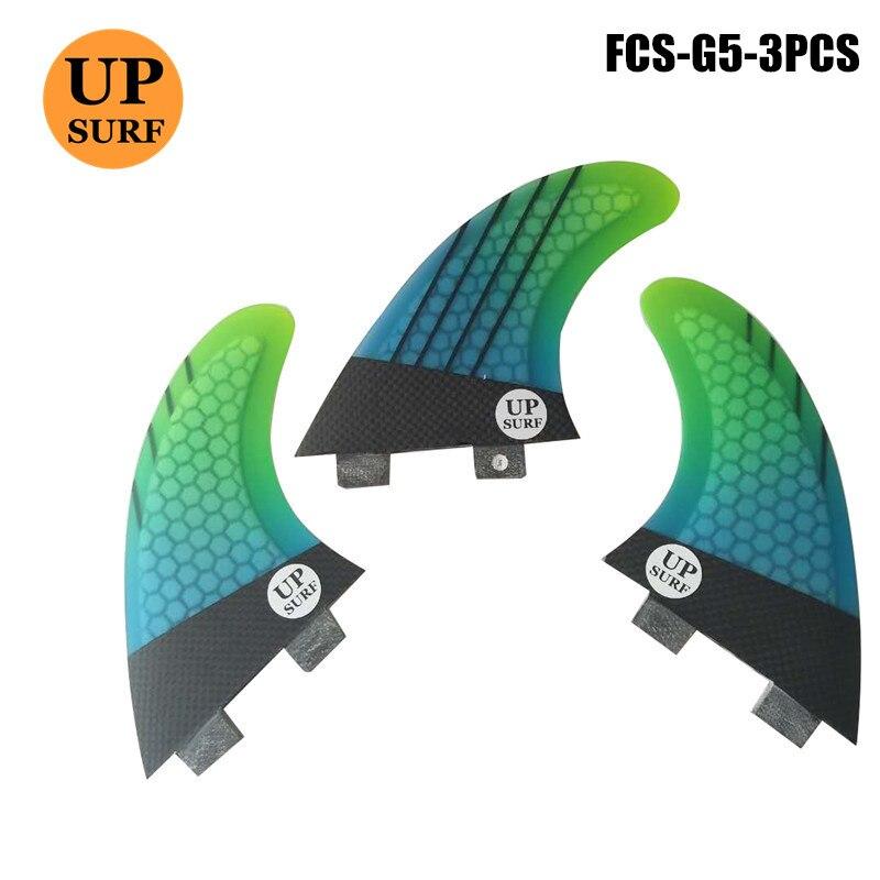 Planche de surf FCS G5 fin de Carbone En Nid D'abeille En Fiber de verre G5 surf ailettes upsurf logo