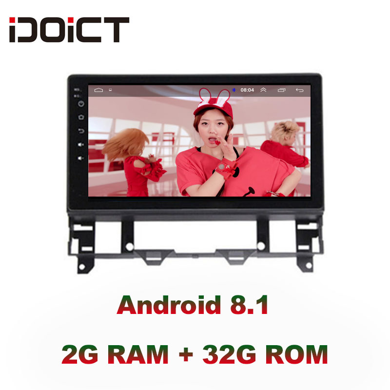 IDOICT Android 8.1 IPS 2G+32G 8 CORE Car DVD Player GPS Navigation Multimedia For Mazda 6 Radio 2002-2008 car stereo