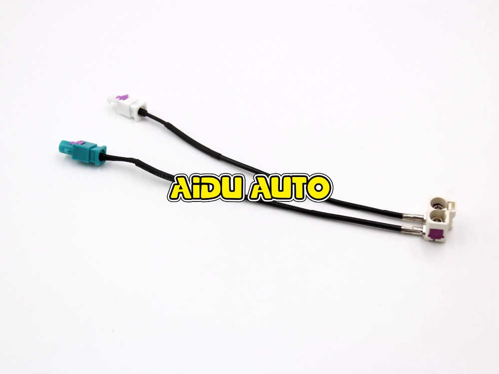FOR VW RCD510 RNS 510 FAKRA Antenna Diversity RNS510(MFD3) RCD510 310 Radio Antenna Adapter 2 to 2 Conversion Cable