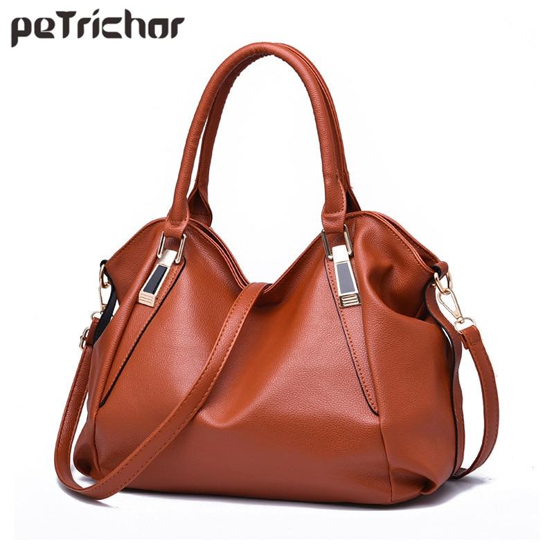 Fahion Hobos Style Women Messenger Bag PU Leather Ladies Handbags Purse Female Crossbody Bags Should