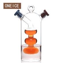 Бесплатная доставка большая кухня приправы бутылки зеленый стекло масленка масло может просочиться масло и уксус соус бутылка высокое качество быстрая