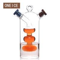 Free Shipping Large Kitchen Seasoning Bottle Green Glass Oiler Oil Can Leak Oil And Vinegar Sauce