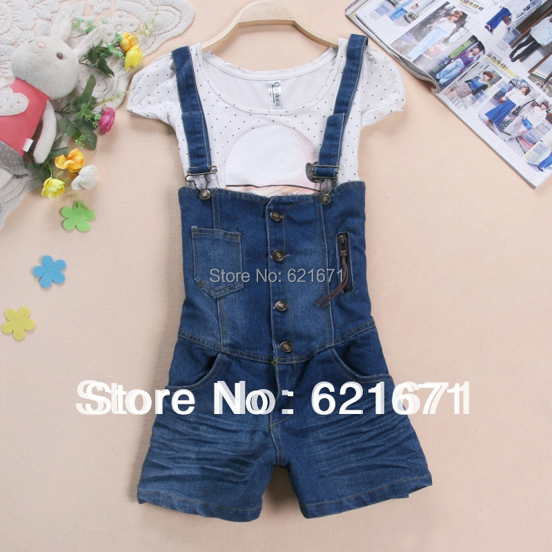 238a1672fb9 2015 Summer Women Girls Casual Vintage Fashion Loose Short Jeans Jumpsuits Rompers  Denim Overalls Suspenders Shorts S M on Aliexpress.com