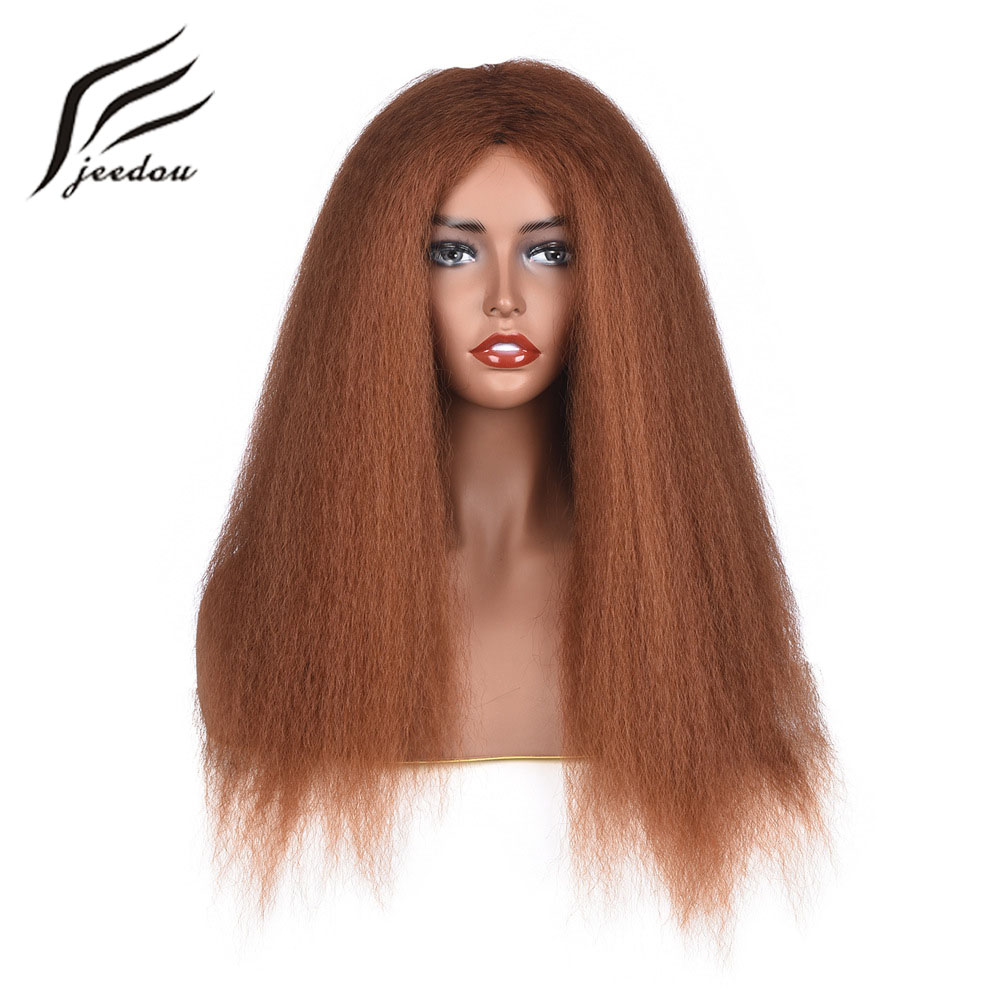 Jeedou Yaki Staight Hair Wig Long Style 24