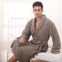 Cotton Men Bathrobe winter Plus size XXL nightgown blanket sleepwear towel fleece bathrobe thick lovers long super soft robe