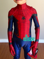 ZentaiHero High Quality Kids Civil War Spider man Costume 3D Shade Cosplay Suit Superhero Costume for Halloween