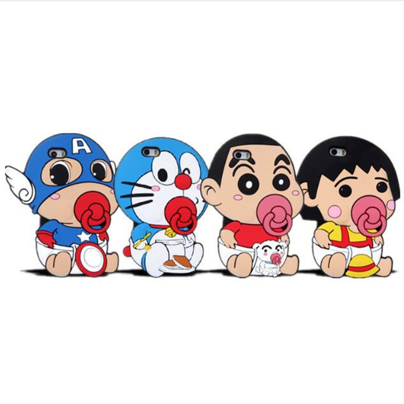 2017 NEW Cute 3D Japan Cartoon Doraemon Crayon Shin chan ...