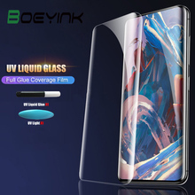 UV Liquid Full Glue Tempered Glass For OnePlus 7 Pro Case Friendly Screen Protector Cover One Plus 7 Pro Oneplus7 Glass Film