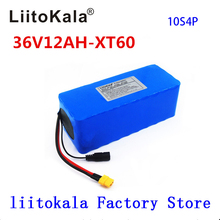 LiitoKala 36V 12ah 10S4P Electric bicycle battery pack 18650 lithium ion battery 500W high power 42V motorcycle Scoote XT60 male