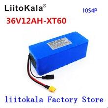 LiitoKala Paquete de batería de bicicleta eléctrica, 36V, 12ah, 10S4P, batería de iones de litio 18650, 500W, alta potencia, 42V, hombre