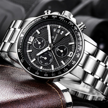 WISHDOIT Men Watches Fashion Brand Multifunction Chronograph Quartz Watch Military Sport Wristwatch Male Clock Relogio Man