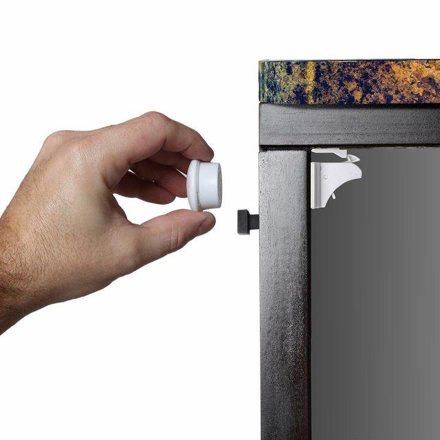 bf778979ebe5 16 Locks + 4 Keys Magnetic Baby Child Cupboard Safety Locks Childproof  Magnetic Cabinet Drawer Locks
