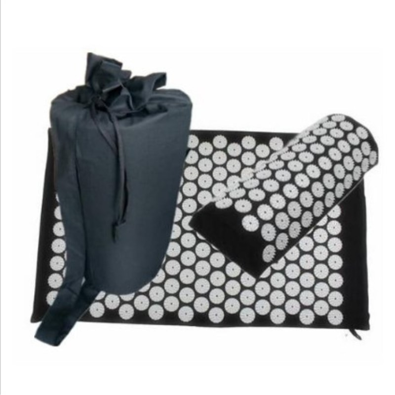 <+>  Массажный коврик (Одобрено 68   42см) Подушка Shaqi Pad Shiatsu облегчает боль в поясничной области  ✔