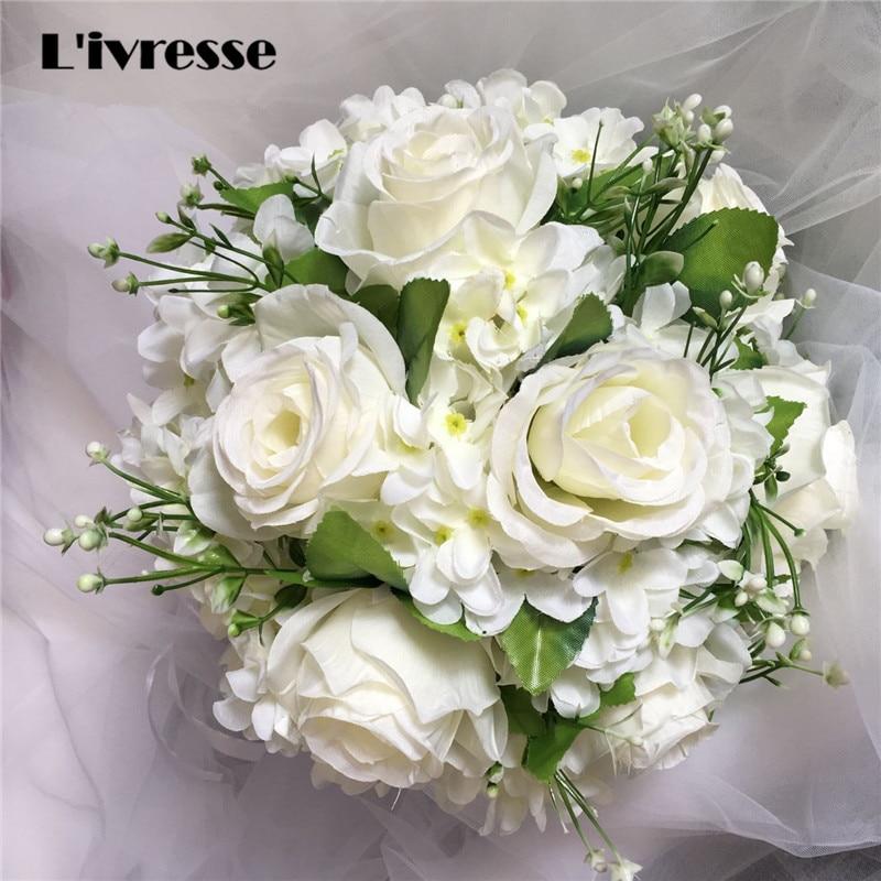 Brooch Wedding Bouquet For Brides Mariage Artificial Rose