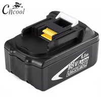 Cncool 18V 6000mAh Tool Battery Pack for Makita BL1860 Replacement Battery Rechargeable Li ion Batteria 194230 4 LXT400 Cell