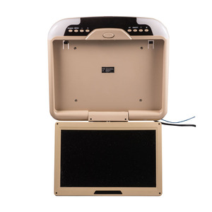 """Image 3 - 13"""" Car Monitor DC 12V 13 Inch Car Ceiling Monitors Roof Mounted Flip Down Monitor Beige Color"""