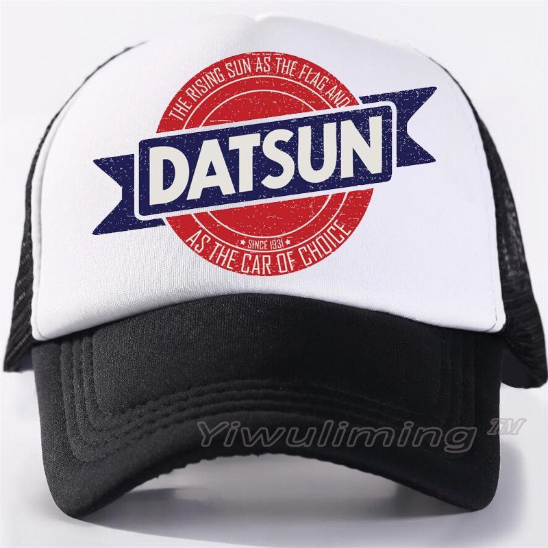 New Summer Trucker Caps Datsun Cool Summer Black Adult Cool Baseball Mesh Net Trucker Caps Hat For Men Adjustable