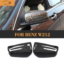 E Klasse Ersatz Kohlefaser auto seitenspiegelabdeckungen Für Mercedes Benz W212 2009-2016 W207 2010 Weiß Chrom
