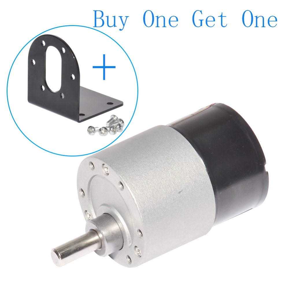 Dia 37mm DC Brushless Gear Motor 12V 24V 10~1000rpm BLDC Miniature Speed Control Motor Metal Gear for DIY Hobby цена