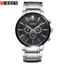 Vogue quartz Black full steel Casual Military Man Men's Brand Wrist watches waterproof Dropship 2014 Hot sell Relogio masculina