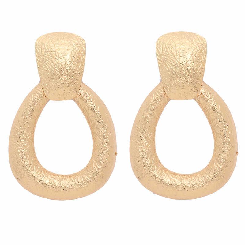 AYAYOO ZA Metall Erklärung Tropfen Ohrringe Für Frauen 2019 Gold Farbe Geometrische Vintage Ohrringe Hochzeit Modeschmuck Ohrringe