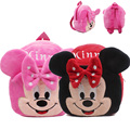 2016 lovely Mickey Minnie baby backpack mochila girls' school bags kids plush backpack mini bags for Birthday Christmas gift