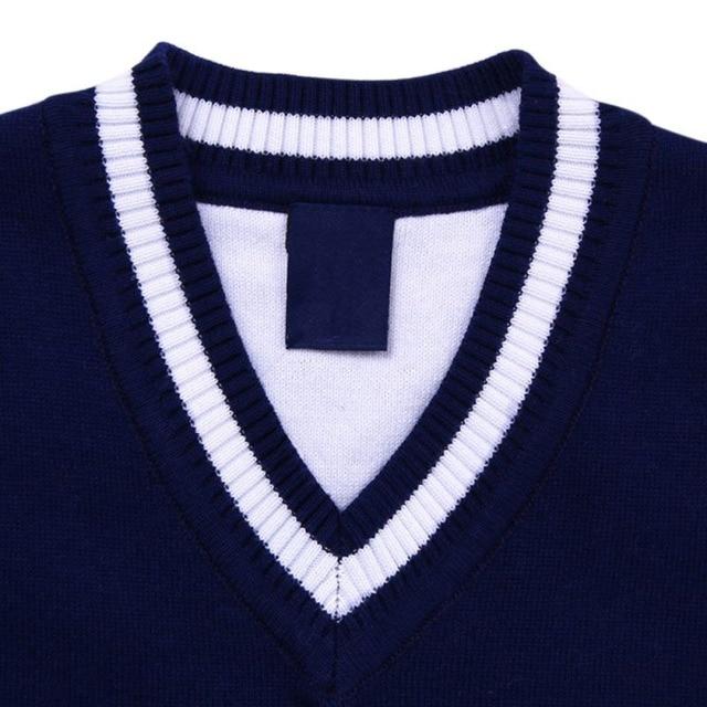 Autumn/Spring Casual Kids Boys Girls Outerwear Sweater Vest Argyle V Neck Sleeveless Pullover Knit School Waistcoat 2-7T 3