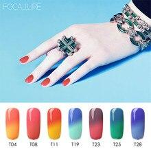 Focallure 7 мл температура сменить гель лак для ногтей Гель-лак для ногтей УФ светодиодный гель 15 цветов Гель-лак для полировки