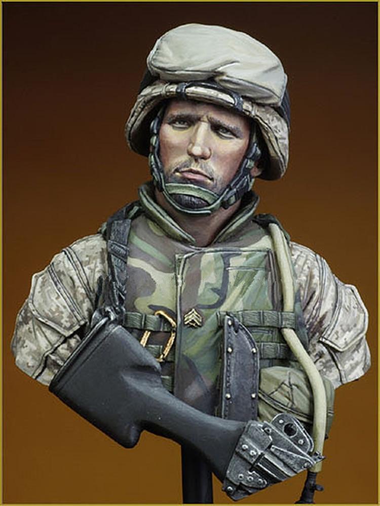 1/10 Resin Bust Model Kit WW2 Soldiers Model Figures Unpainted  X50