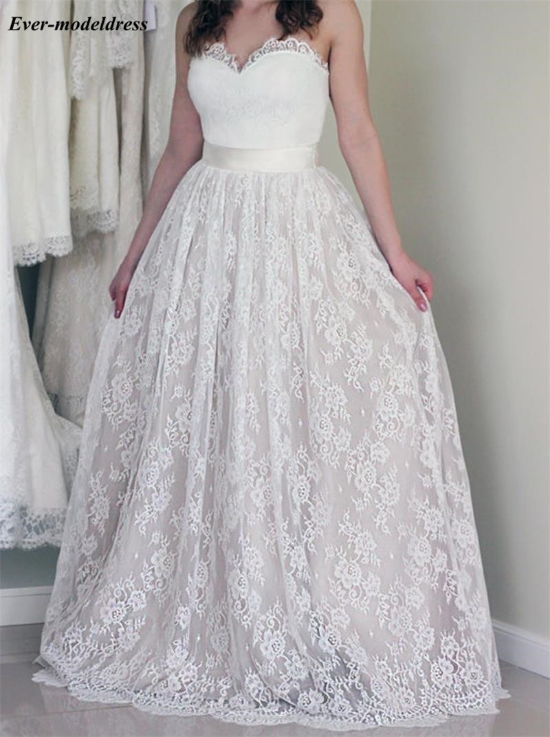 Charming Lace A Line Wedding Dresses 2019 Sweetheart Country Bridal Gowns Plus Size vestido de noiva sereia