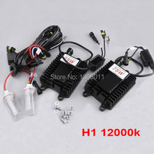 Slim HID Conversion XENON KIT 12V 75W H1 12000K Car Bulbs Car Headlight Single Beam XENON KIT Globe Replacement Bulb Lamp