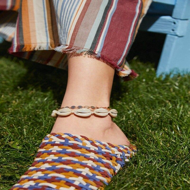 Boho Natural Shell Ankle Bracelet on the Leg Seashell Gold Anklets For Women Leg Bracelet Chain Anklet Beach Summer Foot Jewelry