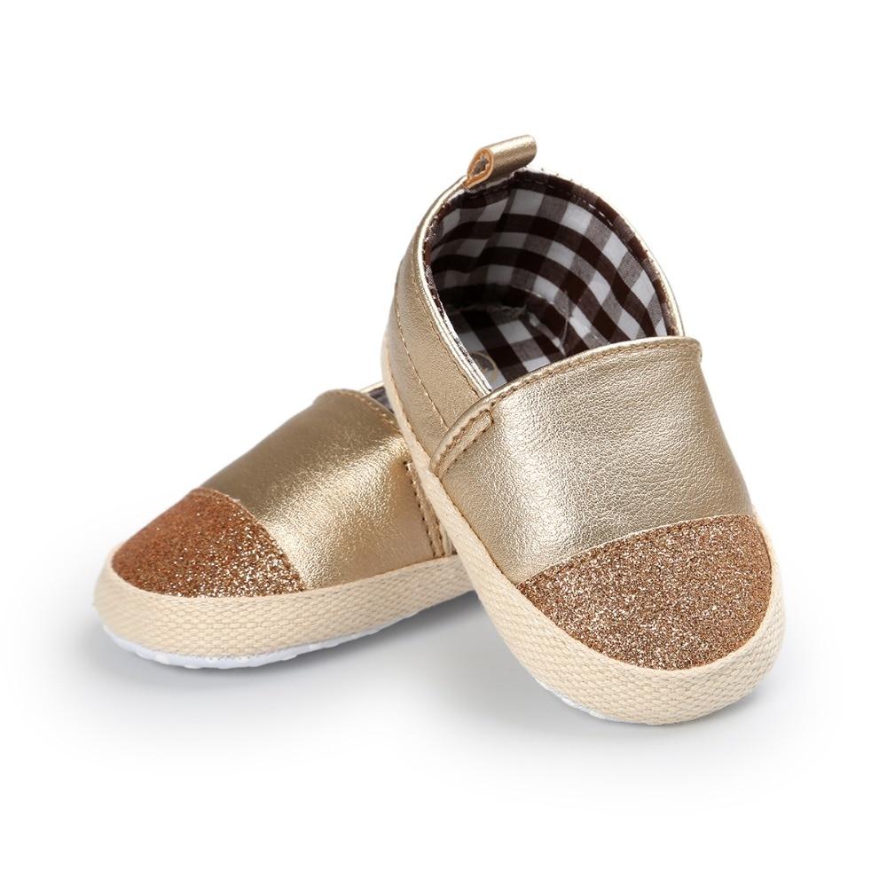 4 kleuren merk lente / herfst baby schoenen mode gouden pu lederen - Baby schoentjes - Foto 3