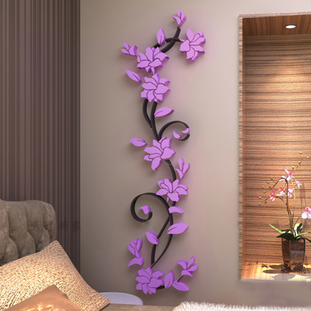 D Wall Sticker Fashion Rose Flower Entranceway TV Background Wall - Modern 3d  wall decals