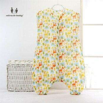 4 Размер Детские Пижамы Ткань детские Sleepsack Хлопок Муслин Спальный Мешок Без Рукавов Sleepware для 0-5лет Унисекс Дети