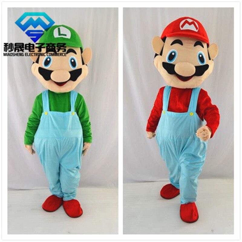 Nouveau Costume de mascotte de dessin animé mascotte Super Mario adulte