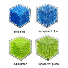 Mini 3D Maze Magic Cube Puzzle Speed Cube Labyrinth Rolling Ball Toys Puzzle Game Cubos Magicos