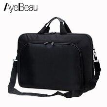 Bolso de trabajo portátil para hombre, maletín para documentos, ordenador portátil, bolso de mano para oficina, tableta, 15,6