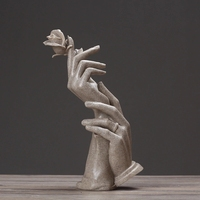 크리 에이 티브 추상 조각 장식 웨딩 선물 홈 거실 와인 캐비닛 카페 장식 현대 홈 공예