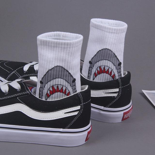 Cotton cartoon shark socks