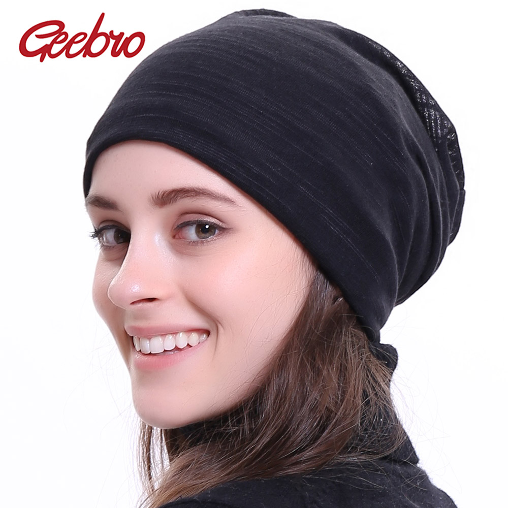 Geebro Women's Plain Color Ribbed   Beanie   Hat Autumn Casual Knitted Hats For Female Unisex Hat Cap   Skullies     Beanie   Hats DQ404M