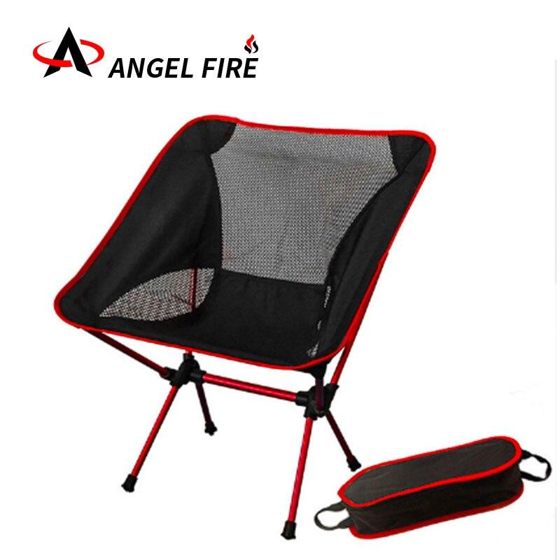 Portable lumière de pêche camping chaise pliante tabouret chaise de plage en plein air lampe cour meubles ultra-portable multi-couleur chaise