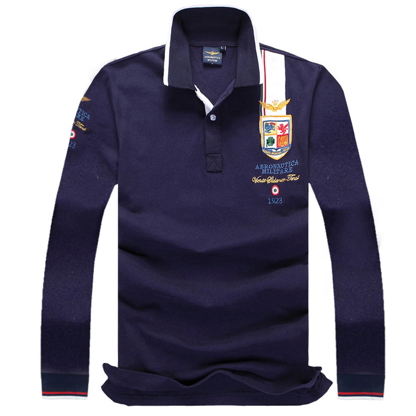 New Arrival Men's Lapel Long Sleeve   Polo   Shirt Stylish Casual Men's turn down collar Shirt Air Force One plus size M-4XL