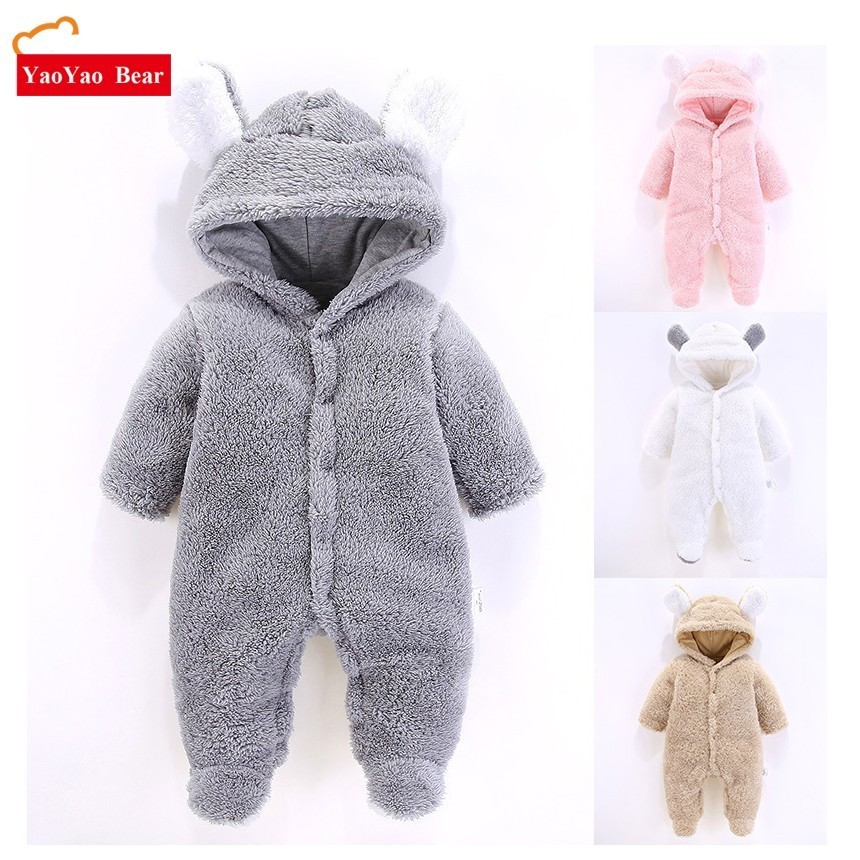 Baby Clothing 2018 Spring New Winter Clothes Rabbit Romper Newborn Warm 3-12m Boys Girls jumpsuits Outwear Long Sleeve Ear