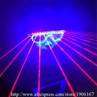 Новый Дизайн Рождество Хэллоуин красочные подсветкой Красный лазерное шоу Очки партии Laserman Очки для вечеринки КТВ ночной клуб