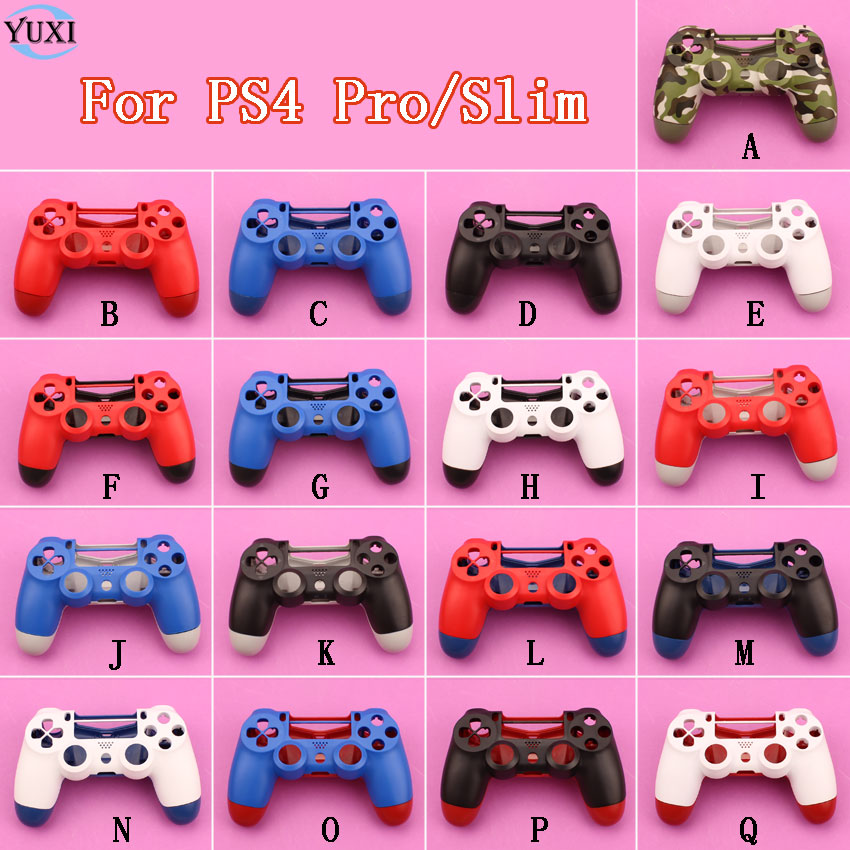 YuXi Replacement Handle shell For Sony PlayStation 4 PS4 Pro Slim Controller Housing Cover Case