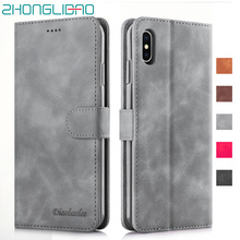 Soft Leather Flip Wallet Case for iPhone Xs Max Xr X 8 7 6 6s Plus Card Holder Stand Magnetic Phone Cover for iPhone Xr 7 funda oil wax crazy horse leather magnetic cover w stand for iphone 6s 6 4 7 inch rose
