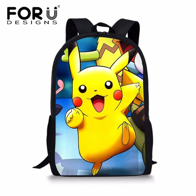 78e22188fb8f FORUDESIGNS Pokemon School Bags Backpack Boys Girls Pikachu Schoolbag  Teenagers Kids Gift Backpacks Children Schoolbags Mochila