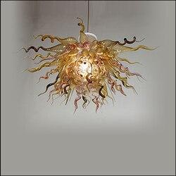 Wielka wyprzedaż Chihuly stylu żyrandol dmuchane żyrandole ze szkła z Murano kolorowe ręcznie dmuchanego szkła żyrandol