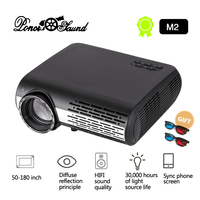 Poner Saund M2/M2W FULL HD 1080P LED Projector Home Beamer Optional Android Version WiFi HDMI USB Video 1080 Bluetooth Proyector